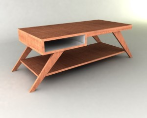 eames-style brown retro coffee table